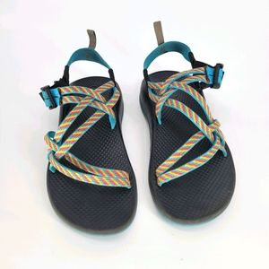 Chaco Girls Youth multi color sandles Size 4